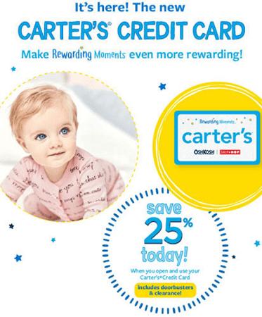 Carter's Credit Card
